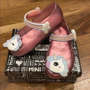 Unicorn and rainbow! Sparkle pink mini Melissas